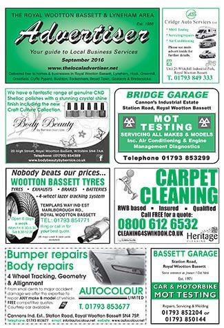 The Royal Wootton Bassett Advertiser - September